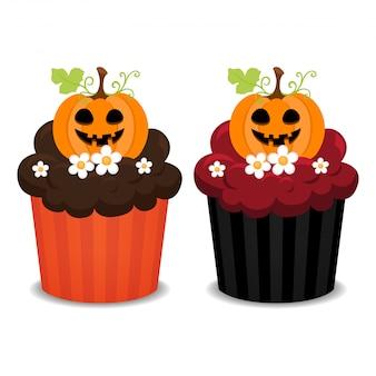 ハロウィーンのカップケーキ。