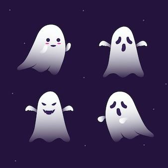 Halloween cute ghost illustration free vector