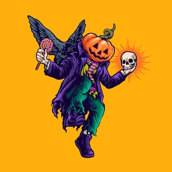Halloween dancing illustration