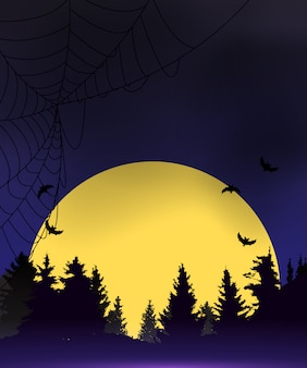 Хэллоуин темно-синий фон шаблона. иллюстрация
