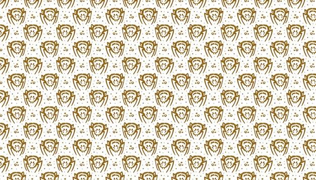 죽은 황금 잉크 벡터 패턴 배너의 할로윈 날 유독한 거미 곤충