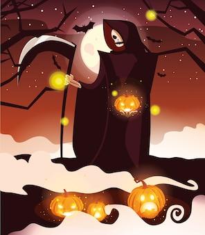 Halloween death cartoon