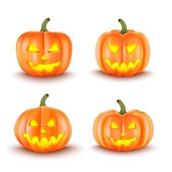 Halloween decoration. scary pumpkins.  illustration