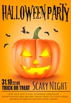 Halloween decoration. scary pumpkins.