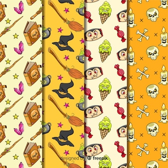 Halloween decoration of seamless pattern collection