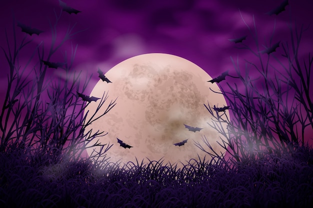 Halloween decorative background