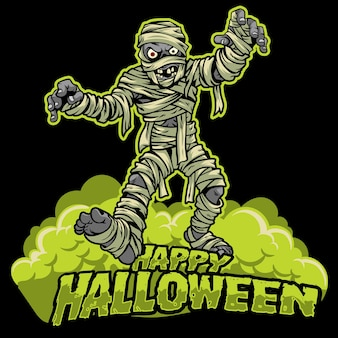 Halloween design of mummy
