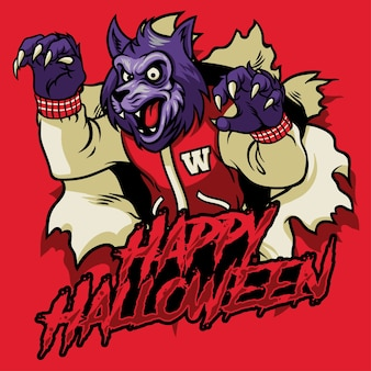 Halloween design of werewolf