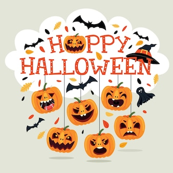 Хэллоуин дизайн с мультипликационным персонажем