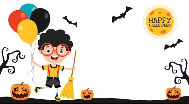 Halloween design with cartoon character