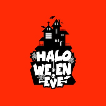 Halloween design with typography and light background vector