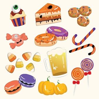 Halloween desserts set