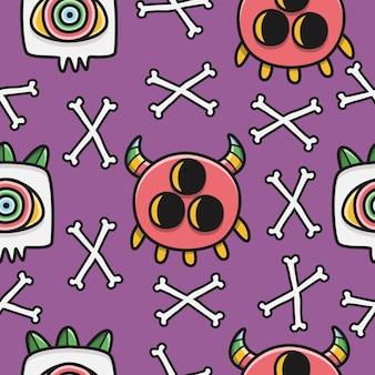 할로윈 낙서 패턴 디자인