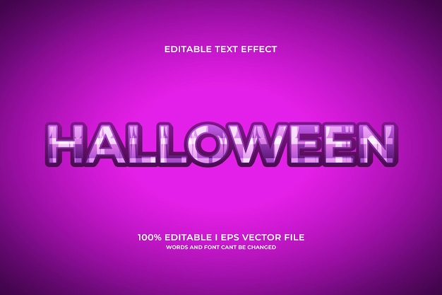 Halloween editable text effect