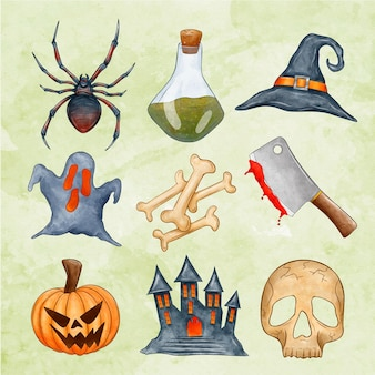 Halloween element collection theme
