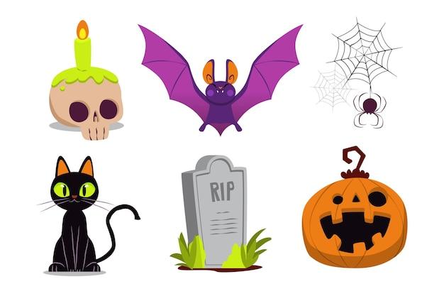 Коллекция элементов хэллоуина