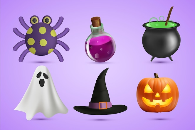 Halloween element collection