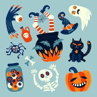 Collezione di elementi di halloween
