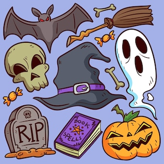 Набор элементов хэллоуин