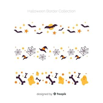 Halloween elements borders