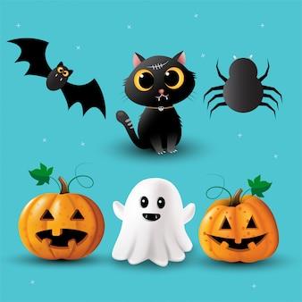 Halloween elements collection vector