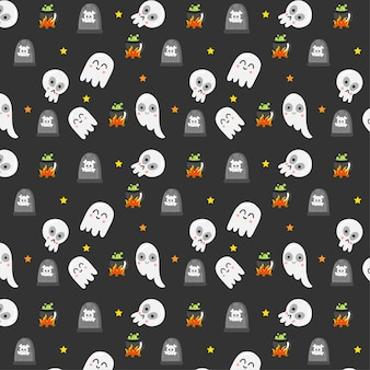 Halloween elements pattern.