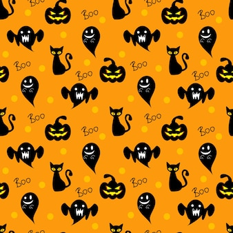 Halloween elements seamless pattern.