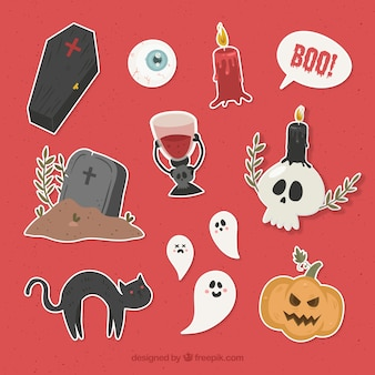 Halloween elements with original style