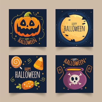 Raccolta di post instagram evento di halloween