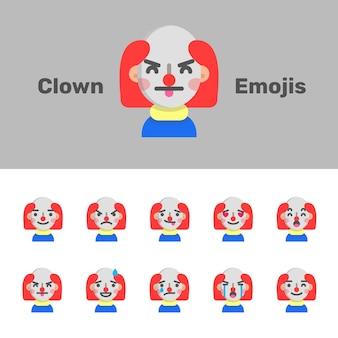 Halloween evil clown emojis