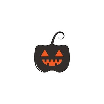 ハロウィーンの顔のホラーのロゴとシンボル