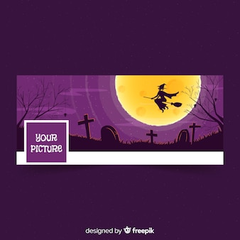 Halloween facebook cover template