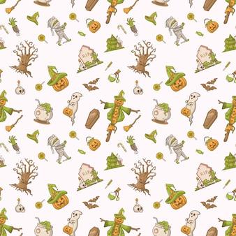 Halloween fest seamless seamless pattern