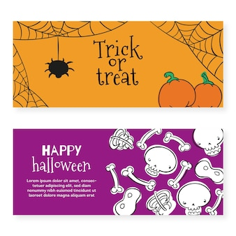 Halloween festival banners template