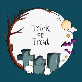 Концепция рамки фестиваля хэллоуина