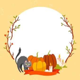 Хэллоуин фестиваль рамка тема