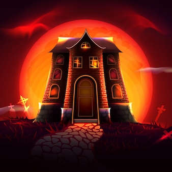Halloween festival house