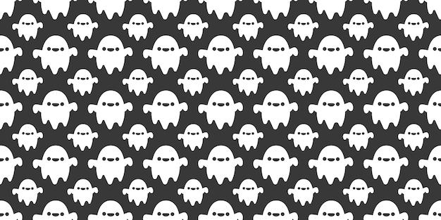 Хэллоуин праздничные призраки бесшовные модели.