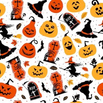 Хэллоуин праздничный бесшовный узор