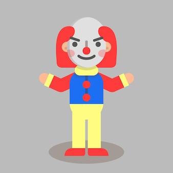 Halloween flat clown