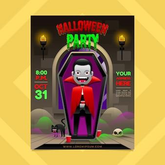 Halloween flyer in gradient style