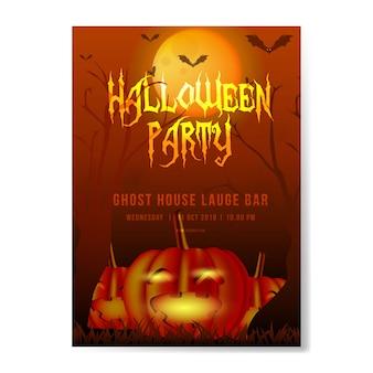 Halloween flyer spooky orange