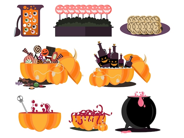 Halloween food party element