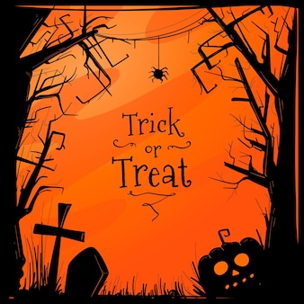 Хэллоуин кадр рисованной