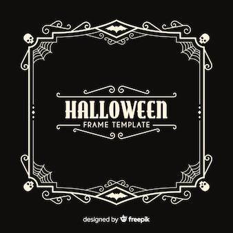Halloween frame template