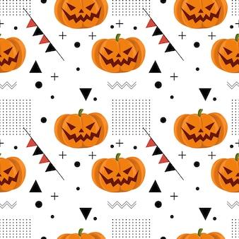 Halloween frankenstein mummy and black bat seamless pattern