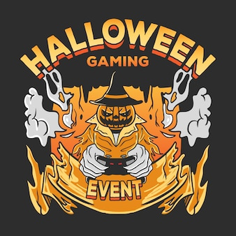 Halloween gaming event illustration