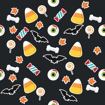 Halloween geometric pattern collection