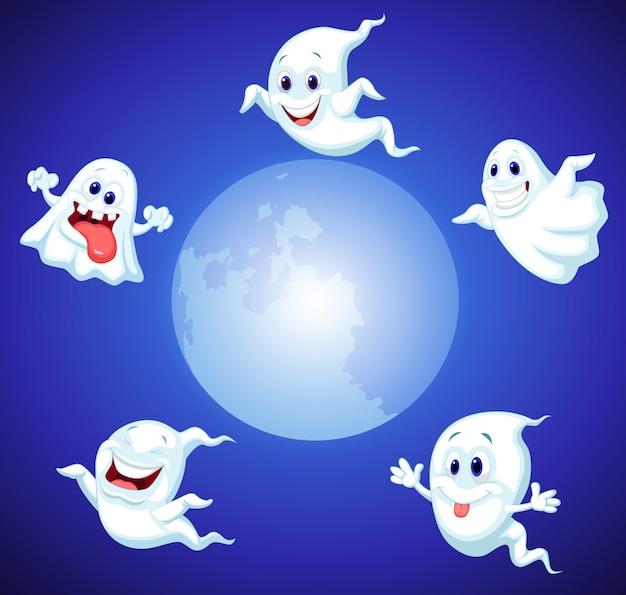 ハロウィーンの幽霊の漫画