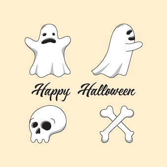 Halloween ghost characters